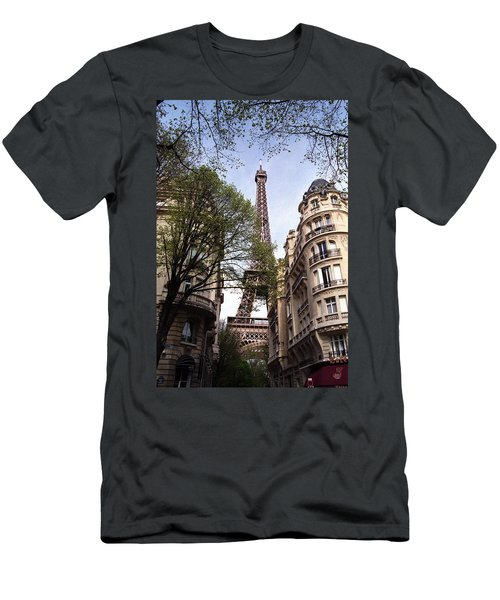 Men's T-Shirt (Slim Fit) featuring the photograph Eiffel Tower 2b by Andrew Fare