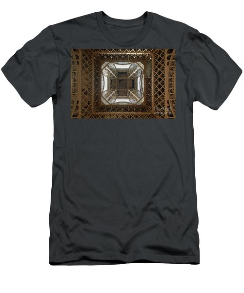Eiffel Tower Abstract Men's T-Shirt (Athletic Fit)
