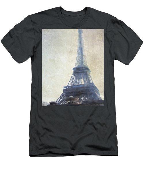 Eiffel Tower Men's T-Shirt (Slim Fit) by Catherine Alfidi