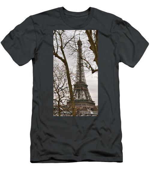Eiffel Tower Through Branches Men's T-Shirt (Athletic Fit)