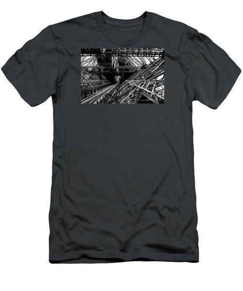 Eiffel Tower Men's T-Shirt (Slim Fit) by M G Whittingham