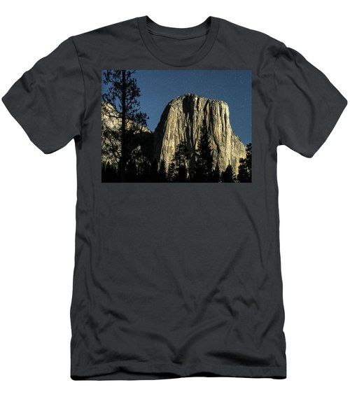 El Capitan By Starlight, Yosemite Valley, Yosemite Np, Ca Men's T-Shirt (Athletic Fit)
