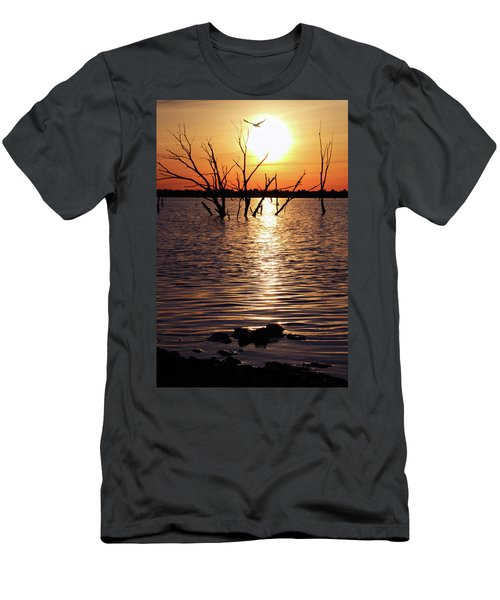 El Dorado Lake Morning Men's T-Shirt (Athletic Fit)