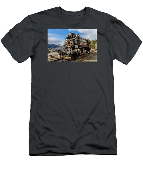 Men's T-Shirt (Slim Fit) featuring the photograph Elbe Steam Engine 17 - 2 by Rob Green