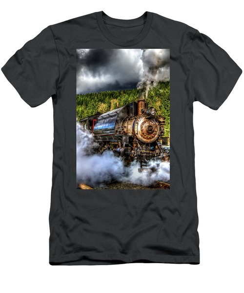 Elbe Steam Engine #17 Hdr Men's T-Shirt (Athletic Fit)
