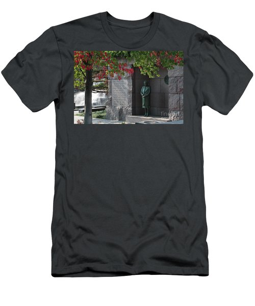 Eleanor's Alcove At The Fdr Memorial In Washington Dc Men's T-Shirt (Athletic Fit)