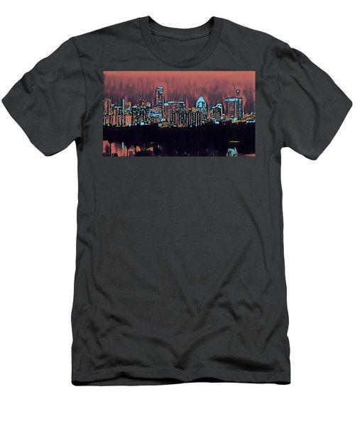 Electric Austin At Dusk Men's T-Shirt (Athletic Fit)