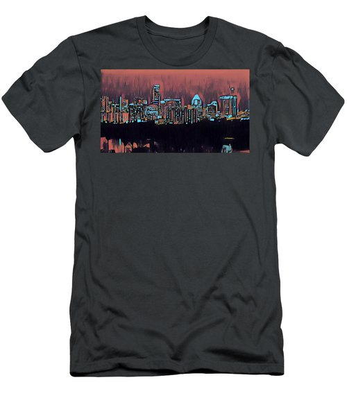 Electric Austin At Dusk Men's T-Shirt (Athletic Fit)