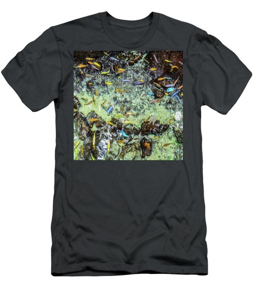Electric Fish In The Pond Men's T-Shirt (Athletic Fit)