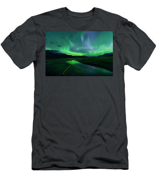 Electric Skies Over Jasper National Park Men's T-Shirt (Athletic Fit)