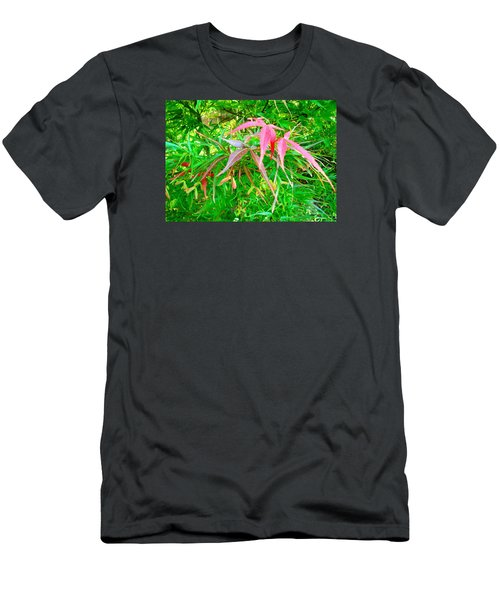 Men's T-Shirt (Slim Fit) featuring the painting Elegance by Angela Annas