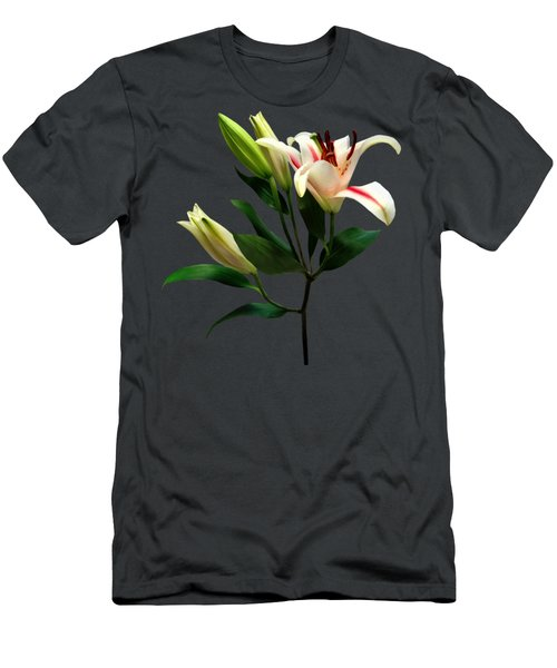 Elegant Lily And Buds Men's T-Shirt (Athletic Fit)