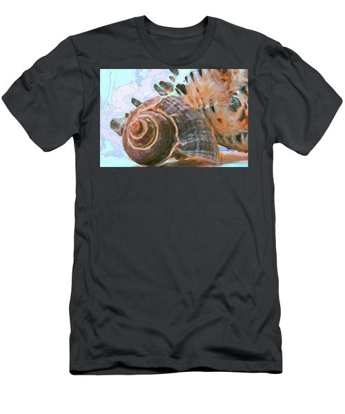 Men's T-Shirt (Athletic Fit) featuring the mixed media Elemental Presence 15 by Lynda Lehmann