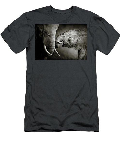 Elephant Affection Men's T-Shirt (Athletic Fit)