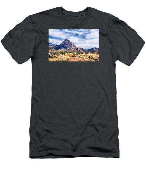 Elephant Head Men's T-Shirt (Slim Fit) by Barbara Manis