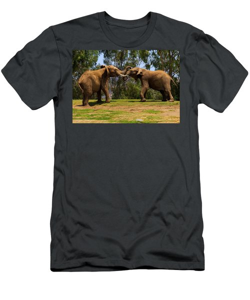 Elephant Play 3 Men's T-Shirt (Athletic Fit)