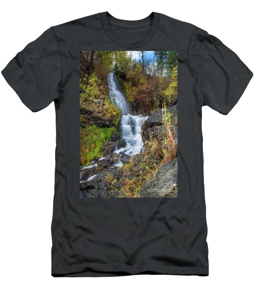 Elk Creek Waterfall Waterscape Art By Kaylyn Franks Men's T-Shirt (Athletic Fit)