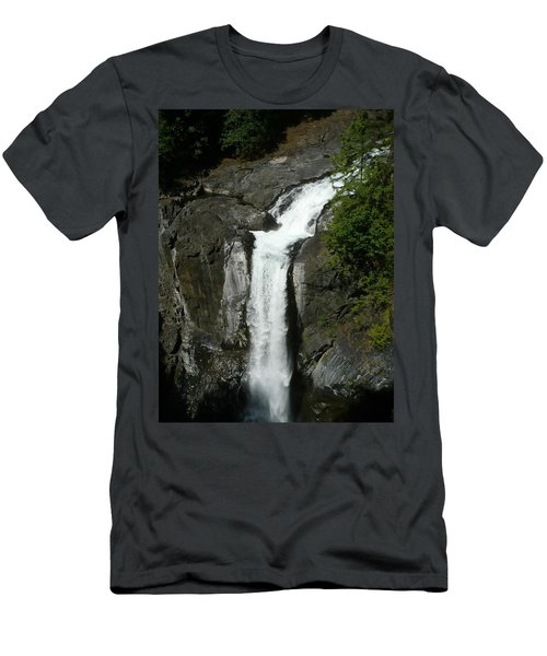 Men's T-Shirt (Athletic Fit) featuring the painting Elk Falls  by 'REA' Gallery