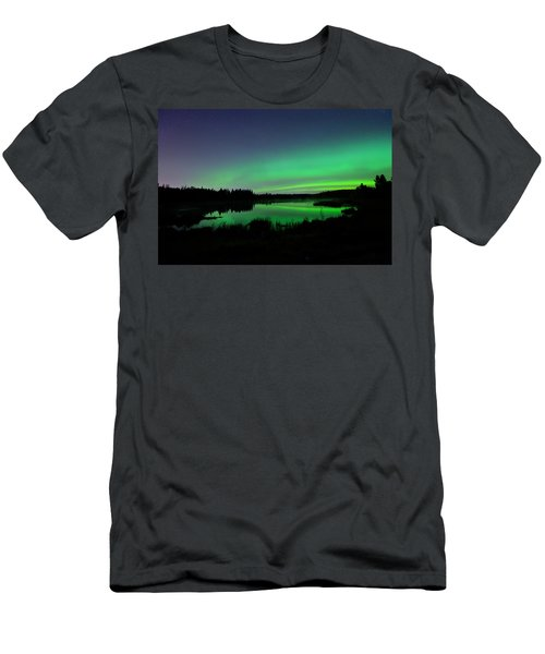 Elk Island Aurora Reflections Men's T-Shirt (Athletic Fit)