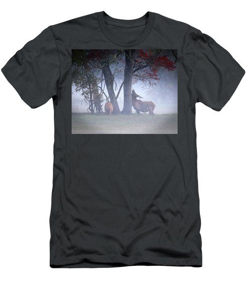 Elk Neck Scratch Men's T-Shirt (Slim Fit) by Lamarre Labadie
