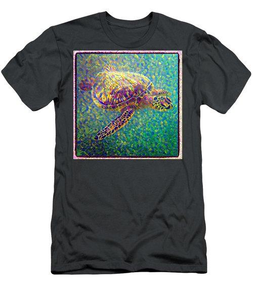 Ella The Turtle Men's T-Shirt (Slim Fit) by Erika Swartzkopf