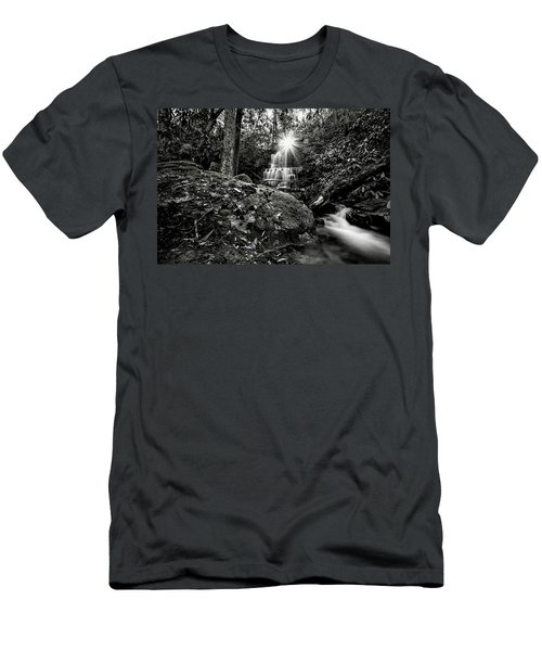 Elora Falls In Black And White Men's T-Shirt (Athletic Fit)