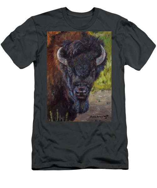 Elvis The Bison Men's T-Shirt (Athletic Fit)