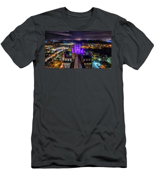 Men's T-Shirt (Athletic Fit) featuring the photograph Ely Cathedral In Purple by James Billings