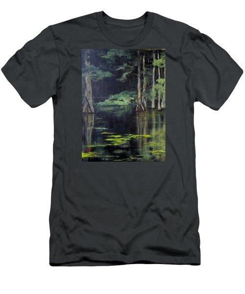 Emerald Bayou Men's T-Shirt (Slim Fit) by Barbara O'Toole