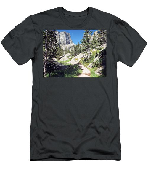 Emerald Lake Trail - Rocky Mountain National Park Men's T-Shirt (Slim Fit) by Joseph Hendrix