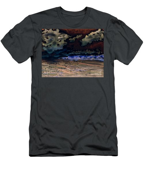 Men's T-Shirt (Athletic Fit) featuring the painting Emerging Darkness by Reed Novotny