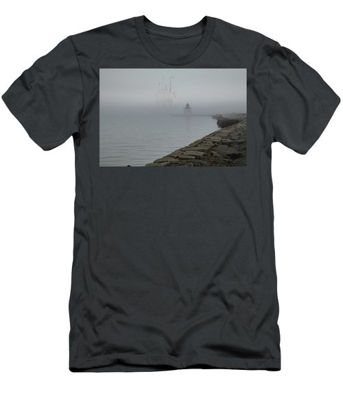 Men's T-Shirt (Athletic Fit) featuring the photograph Emerging From The Fog by Jeff Folger