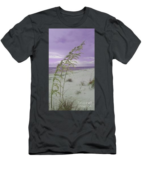 Emma Kate's Purple Beach Men's T-Shirt (Athletic Fit)