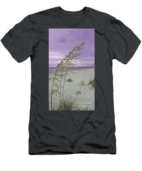 Emma Kate's Purple Beach Men's T-Shirt (Athletic Fit)