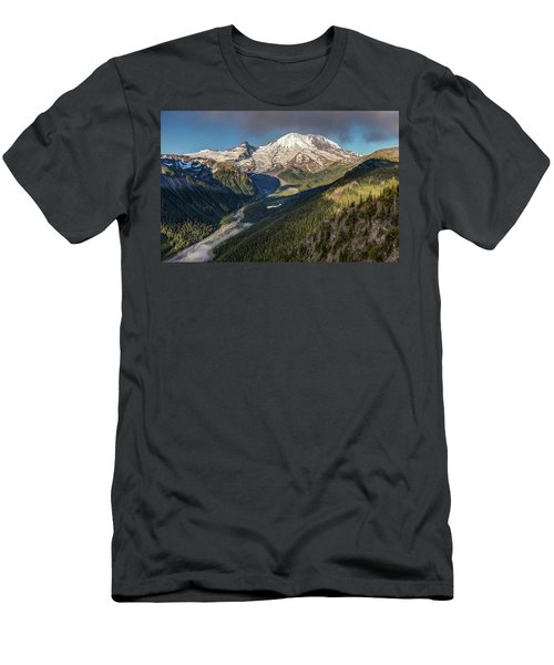 Men's T-Shirt (Athletic Fit) featuring the photograph Emmons Vista Of Mount Rainier by Pierre Leclerc Photography