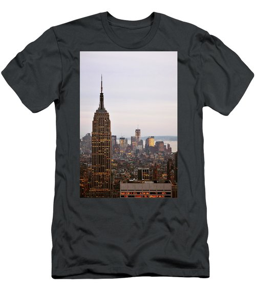 Empire State Building No.2 Men's T-Shirt (Slim Fit) by Zawhaus Photography