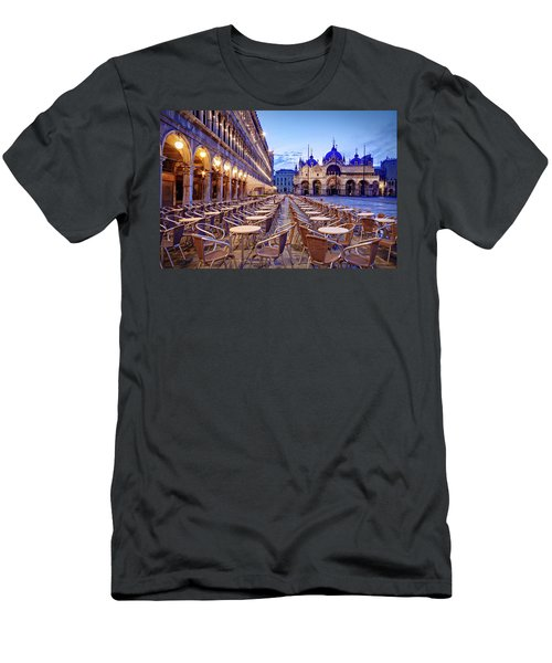 Empty Cafe On Piazza San Marco - Venice Men's T-Shirt (Athletic Fit)