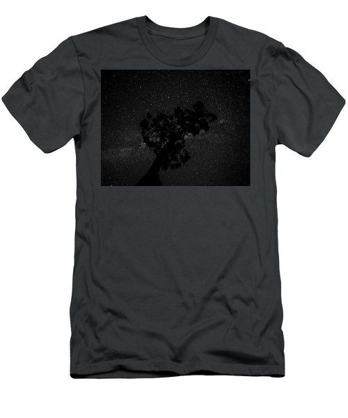 Men's T-Shirt (Athletic Fit) featuring the photograph Empty Night Tree by T Brian Jones