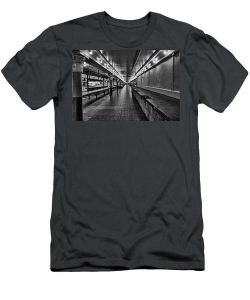 Empty Pike Place Market In Seattle Men's T-Shirt (Athletic Fit)