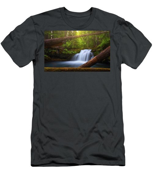 Men's T-Shirt (Athletic Fit) featuring the photograph Enchanted Forest by Darren White