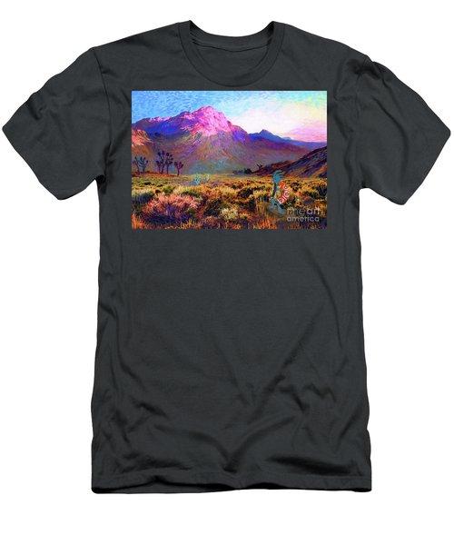 Enchanted Kokopelli Dawn Men's T-Shirt (Athletic Fit)