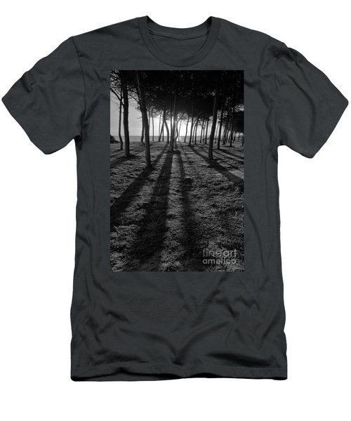 Enchanted Sunset In Monochrome Men's T-Shirt (Slim Fit)