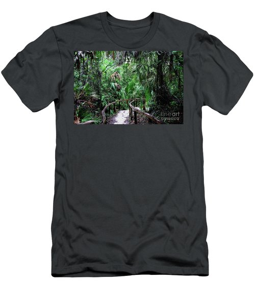 Men's T-Shirt (Athletic Fit) featuring the photograph Enchanted Walk by Gary Wonning