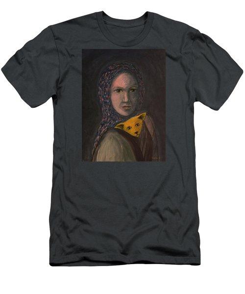 Encountering I Am Men's T-Shirt (Slim Fit) by Tone Aanderaa