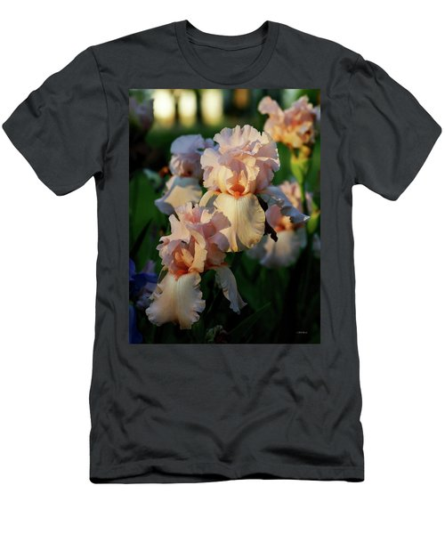 End Of Day Pink Irises 6702 H_2 Men's T-Shirt (Athletic Fit)