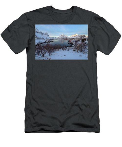 Men's T-Shirt (Athletic Fit) featuring the photograph End Of Day, Reine, Lofoten,  by Dubi Roman