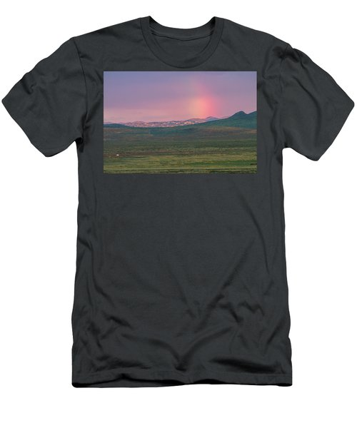 Men's T-Shirt (Slim Fit) featuring the photograph End Of Rainbow by Hitendra SINKAR