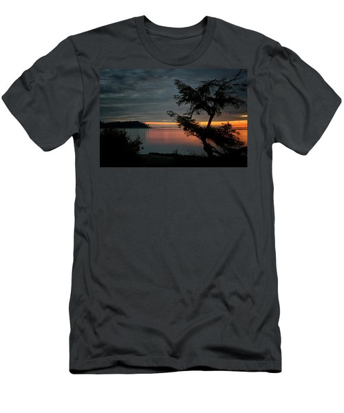 End Of The Trail Men's T-Shirt (Slim Fit) by Randy Hall