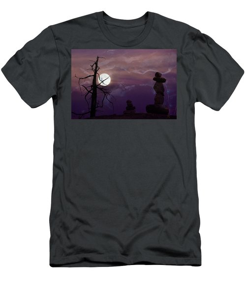 End Of Trail Men's T-Shirt (Slim Fit) by Ed Hall