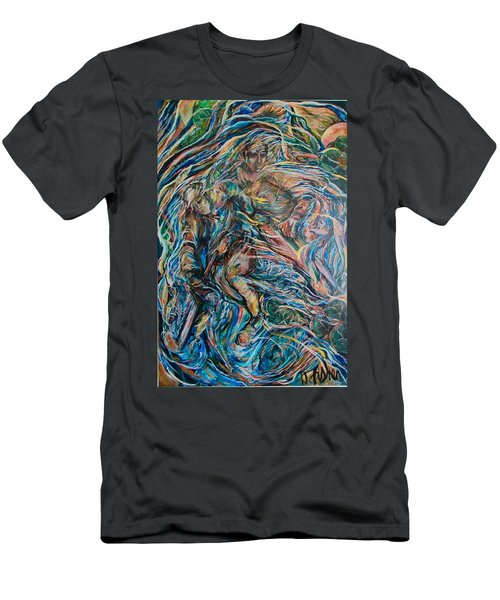 Men's T-Shirt (Slim Fit) featuring the painting Energy by Dawn Fisher